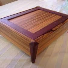 hand crafted exotic wood jewelry box canary u0026 purpleheart by