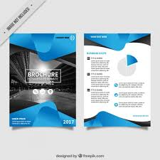 fliers templates free flyers designs flyer template with blue abstract forms vector