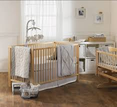 Baby Nursery Bedding Sets Neutral by Amazon Com Living Textiles Cotton Poplin Bumper White Grey