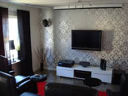 Interior Decoration For Tv Wall Wall Paper On Wall Behind Tv Gives Texture Home Decorating