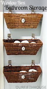Hanging Baskets For Bathroom Storage Window Box Bathroom Storage For A Small Bathroom Basket