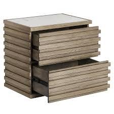 raised wood marble top nightstand