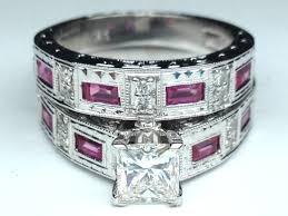 black and pink wedding rings wedding rings black gold wedding ring with pink pink