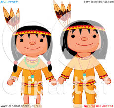 american thanksgiving clipart of a thanksgiving native american and boy royalty