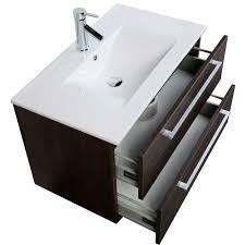 30 Inch Modern Bathroom Vanity Buy 32 Inch Wall Mount Modern Bathroom Vanity Set Oak Rs Dm800 Oak