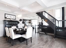 Black And White Laminate Flooring Grey Laminate Flooring Dining Room Transitional With Black White