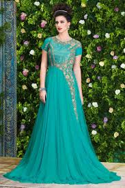 party wear gowns amazing sea green unstitched party wear gown indian ethnic