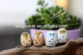 lovely mini resin owl ornaments for moss and succulent micro