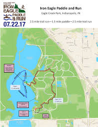 Race Map Iron Eagle Paddle U0026 Run U2013 Eagle Creek Park Foundation