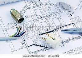 architects blueprint construction new residential house stock