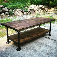 Black Pipe Coffee Table - coffee table required pipes industrial and homemade
