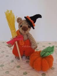 halloween glass beads wyn ooak halloween miniature crochet bear with needle felted