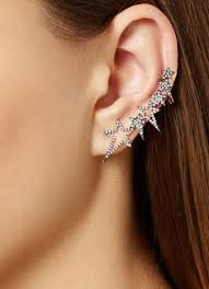 earrings for second trendy way to wear ear cuff jewelry gossip