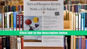 read online harvard business review on work and life balance