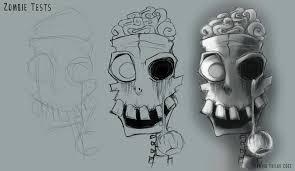 zombie head sketch u2013 edwardian taylor