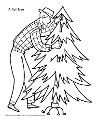 christmas tree coloring pages bringing christmas tree