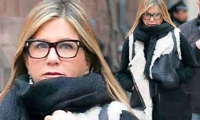 jennifer aniston appears youthful in her nerd glasses as she