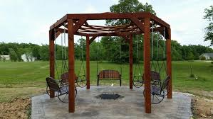 Gazebo Fire Pit by How To Build A Hexagonal Swing With Sunken Fire Pit