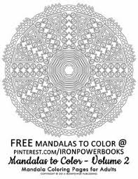free printable mandala coloring ironpowerbooks