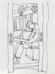 riding the nyc subway sketches by andrew sanders the public