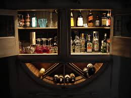 Home Bar Cabinet Ideas Alluring Wall Mounted Bar Cabinet Wall Mounted Liquor Cabinet