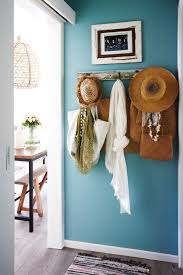 vintage 1950s seaside shack in new zealand turquoise wall colors