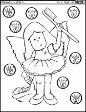tooth coloring pages for kids brush teeth clipartvector
