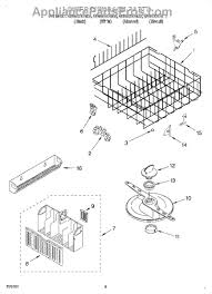 Roper Dishwasher Parts Whirlpool Wp3385142 Bumper Dishrack Appliancepartspros Com