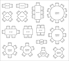 round table number of seats seating capacity layout maxsun group
