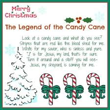legend of the candy cane christmas card printable daily dish