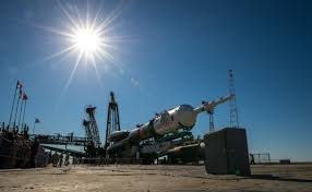 file soyuz tma 09m spacecraft at the baikonur cosmodrome launch