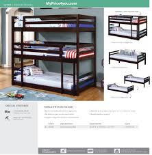 Dimensions Of Bunk Beds by Triple Twin Bunk Bed Cappuccino 400302 By Coaster Bunk Beds And