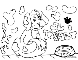 dog coloring pages online dog coloring pages hellokids com