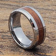wooden metal rings images Neptune men beveled wooden rings forever metals jpg
