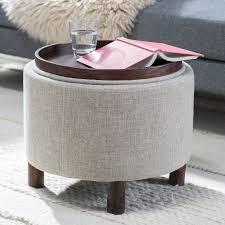 Modern Storage Ottoman Furniture Exquisite Modern Round Ottoman Designs Round House