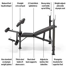 marcy diamond elite olympic weight bench with squat rack bench