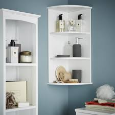 Bathroom Shelf Unit Bathroom Corner Shelving Storage Unit Wooden Shelves White Wall
