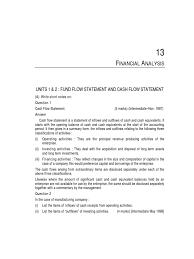 cash flow statements exercises and answers cash flow statement