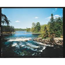 lake in the woods 26847 wall art at sportsman s guide river portage wall mural