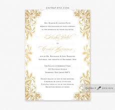 wedding invitations gold and white gold wedding invitation printed white black indian lace bridal