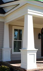 i love the horizontal roof line trim work on this the columns