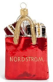 nordstrom shopping bag ornament cheer
