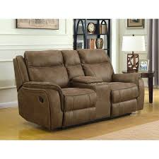 morrisofa hudson dual lay flat reclining console loveseat with