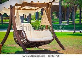 hammock bench swinging bench hammock garden stock photo 231934786 shutterstock