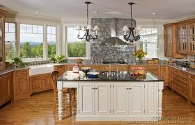 wood kitchen cabinets with white island luxury kitchen design ideas and pictures