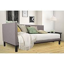 modern daybed amazon com mid century upholstered modern daybed kitchen dining