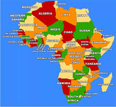 africa map gambia maps of africa political countries flags