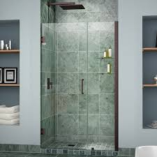 B Q Shower Doors by Dreamline Unidoor 47 48 In Width Frameless Hinged Shower Door 3
