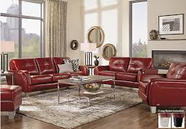 Red Leather Sofa Living Room Ideas Themoatgroupcriterionus - Red leather living room set