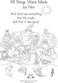 6 creation pictures pages coloring book